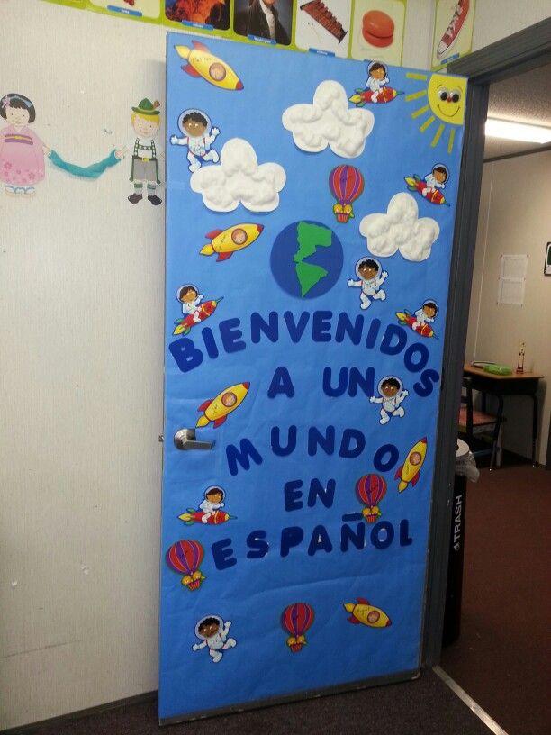 Decorar puerta para salón de Español.