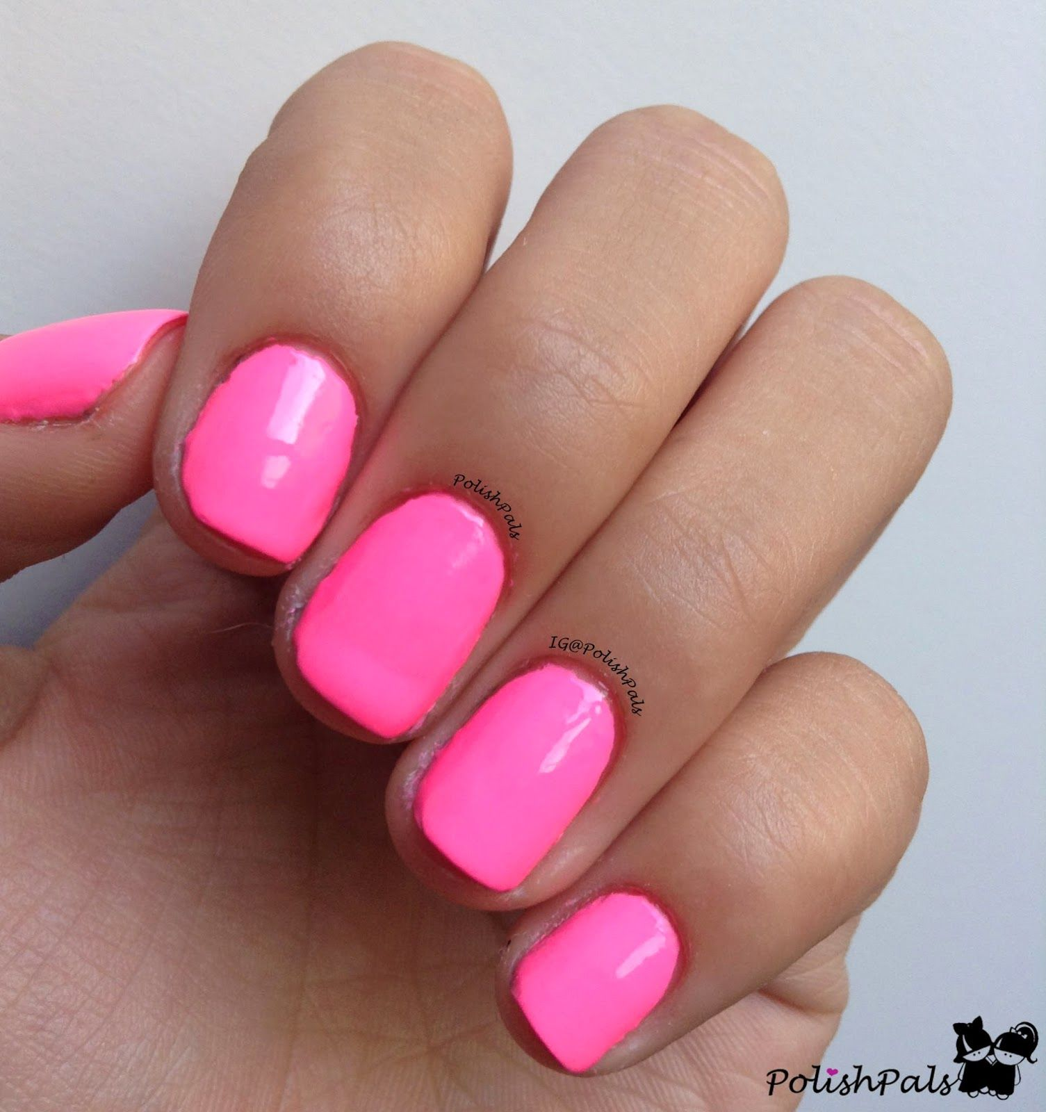 So I Decided It Was Time To Swatch My New Hot Pink Nail