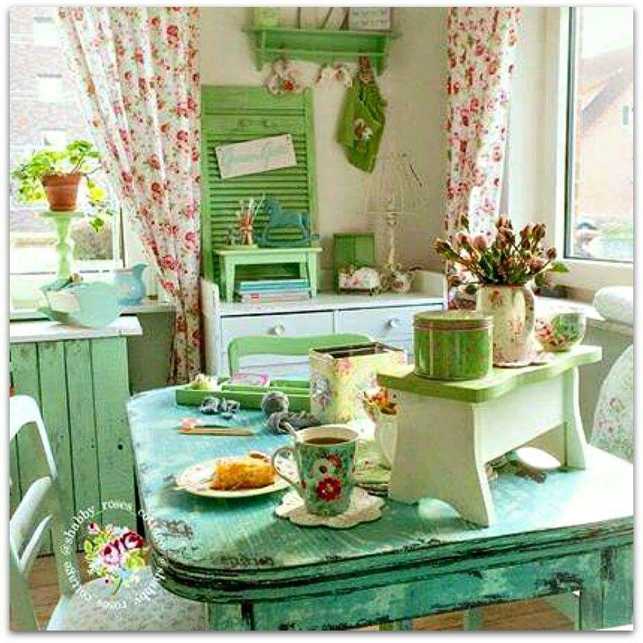 vintage shabby pinterest landhausstil k che und pastell. Black Bedroom Furniture Sets. Home Design Ideas