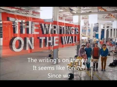 Ok Go The Writing S On The Wall Lyrics Ok Go The Writing S On The Wall Lyric Video Ok Go Optical Illusions Cool Optical Illusions
