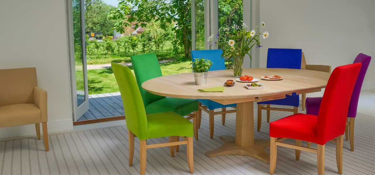 Chelsea Round Extending Dining Table In Oak Or Walnut  Living Magnificent Extended Dining Room Tables Decorating Design