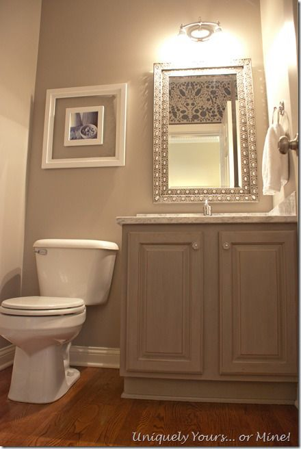 Awesome Websites  powder room makeover Uniquely Yours Or Mine
