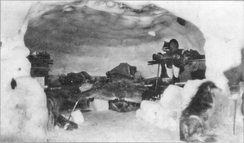 [An Eskimo] Inside Of An Igloo