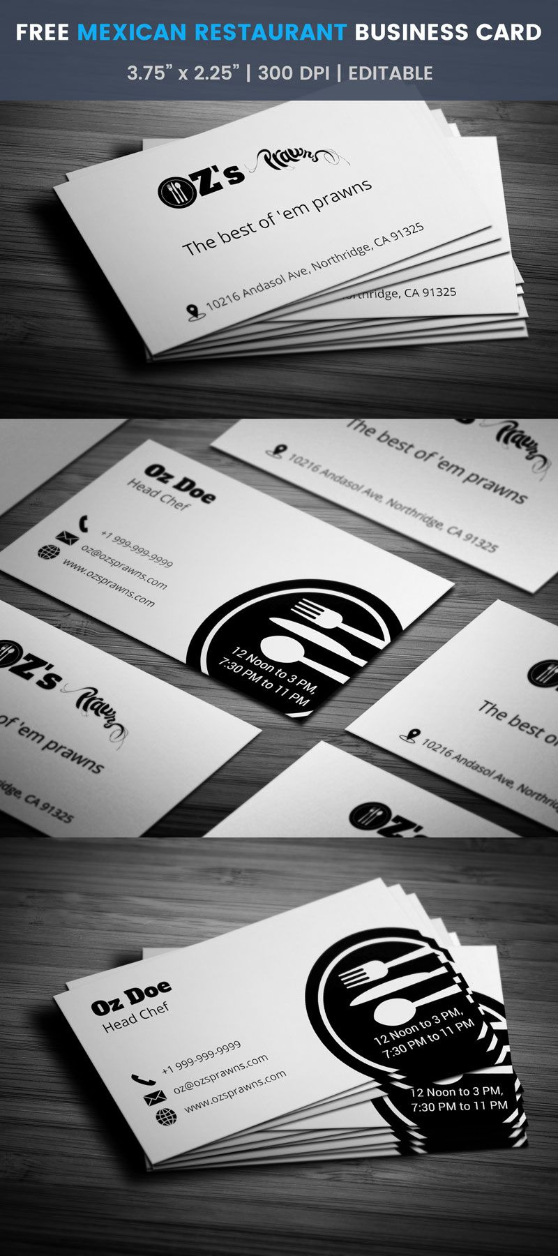Mexican restaurant business card full preview free business card mexican restaurant business card full preview accmission Gallery
