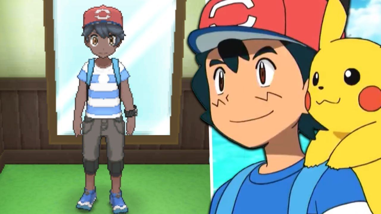 How To Get Ash Ketchum S Alola Clothes Ash Hat In Pokemon Ultra