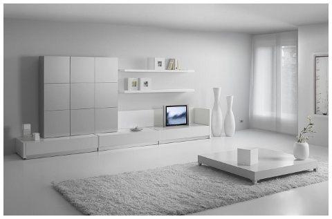 Mueble lacado en blanco mate atrevido a la par que - Muebles de salon lacados en blanco ...