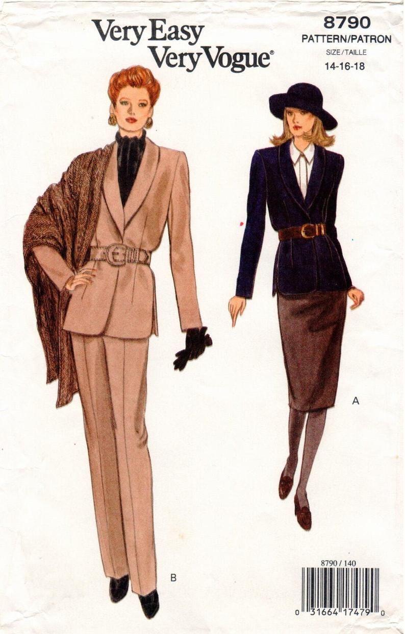 Vintage Uncut Very Easy Very Vogue Pattern 8790 Misses Etsy Vintage Clothes Patterns Vogue Patterns Vintage Dress Patterns