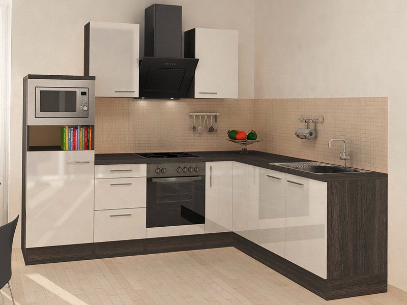 Respekta Premium Winkelküche RP260EWCMIS 260 cm Weiß-Eiche Grau - küchen arbeitsplatte sonoma eiche