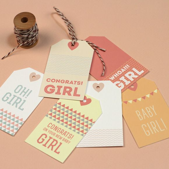 Baby Shower Gift Tags Printable Free: Free New Baby Gift Tag Printables #print