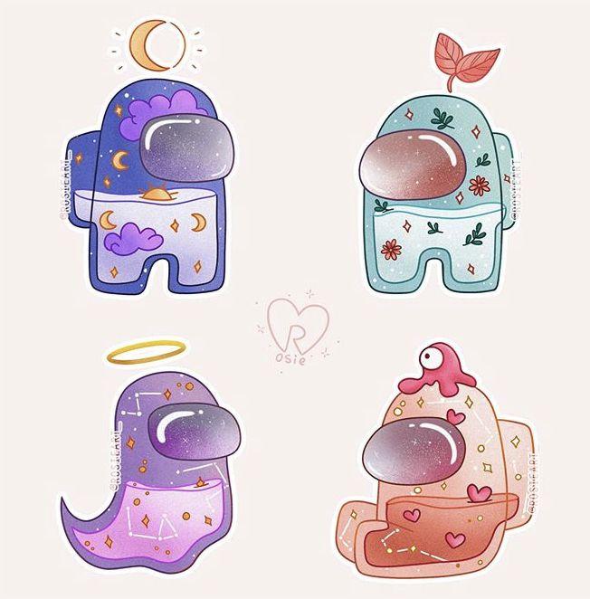 Pin By Hoohan On Amongus Cute Stickers Cute Patterns Wallpaper Wallpaper Iphone Cute