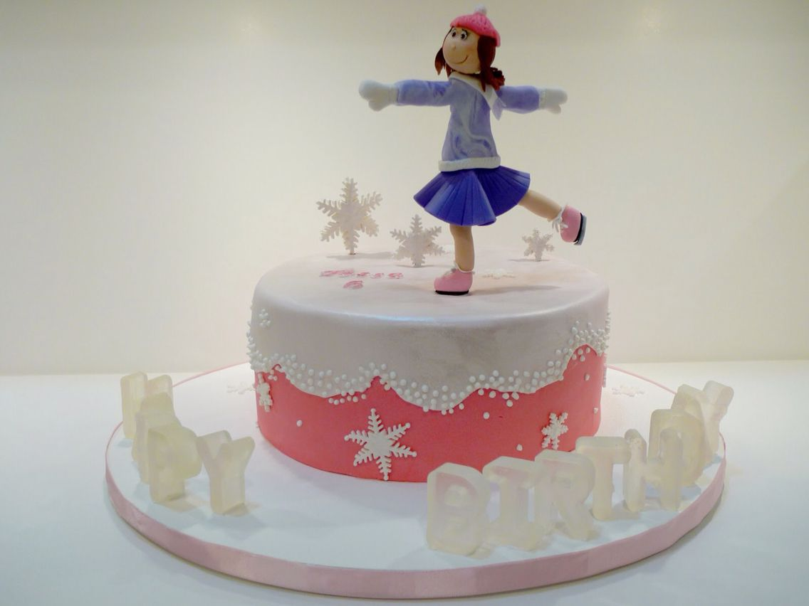 Ice skating cake by ruth zimmerli on birthday parties