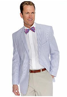 1647bc91a11e Saddlebred® Seersucker Sportcoat @ Belk. On sale for $39.99! Would look  great with blue pants or the light stone colored khakis they have here! A  super buy!