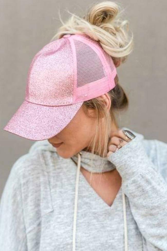 34c5e2e2d CC Ponytail Messy Bun Cap in 2019 | Clothes | Hats, Hat hairstyles, Cap