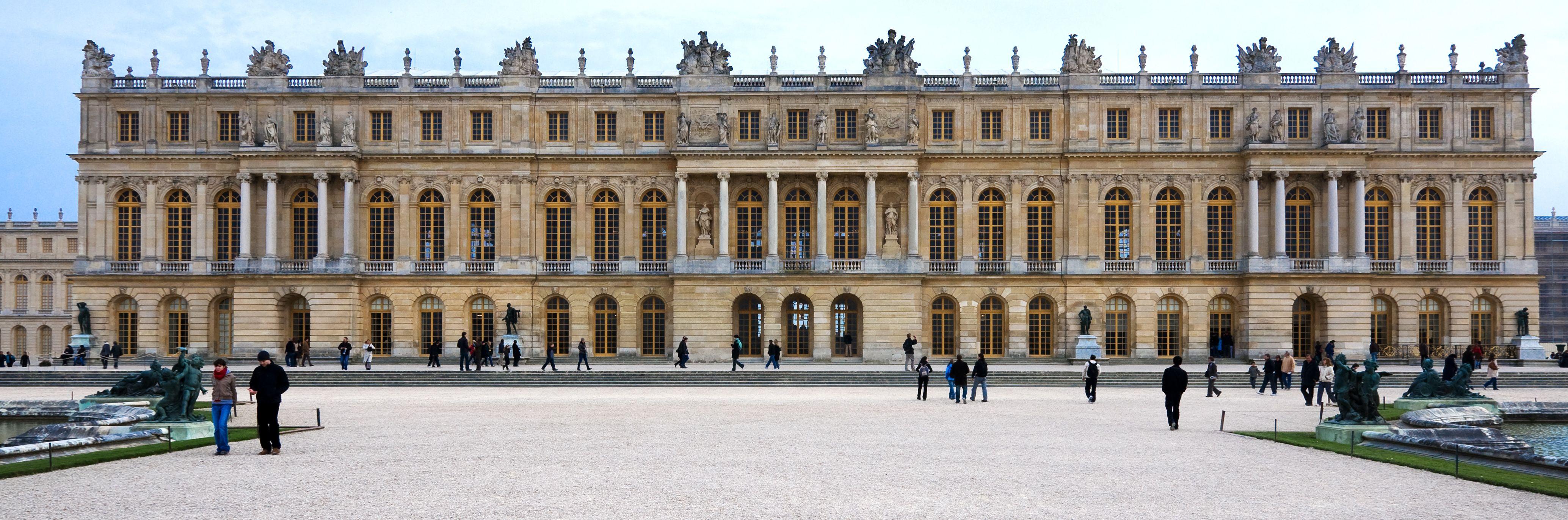 Garden Facade The Palace At Versailles Versailles France Louis
