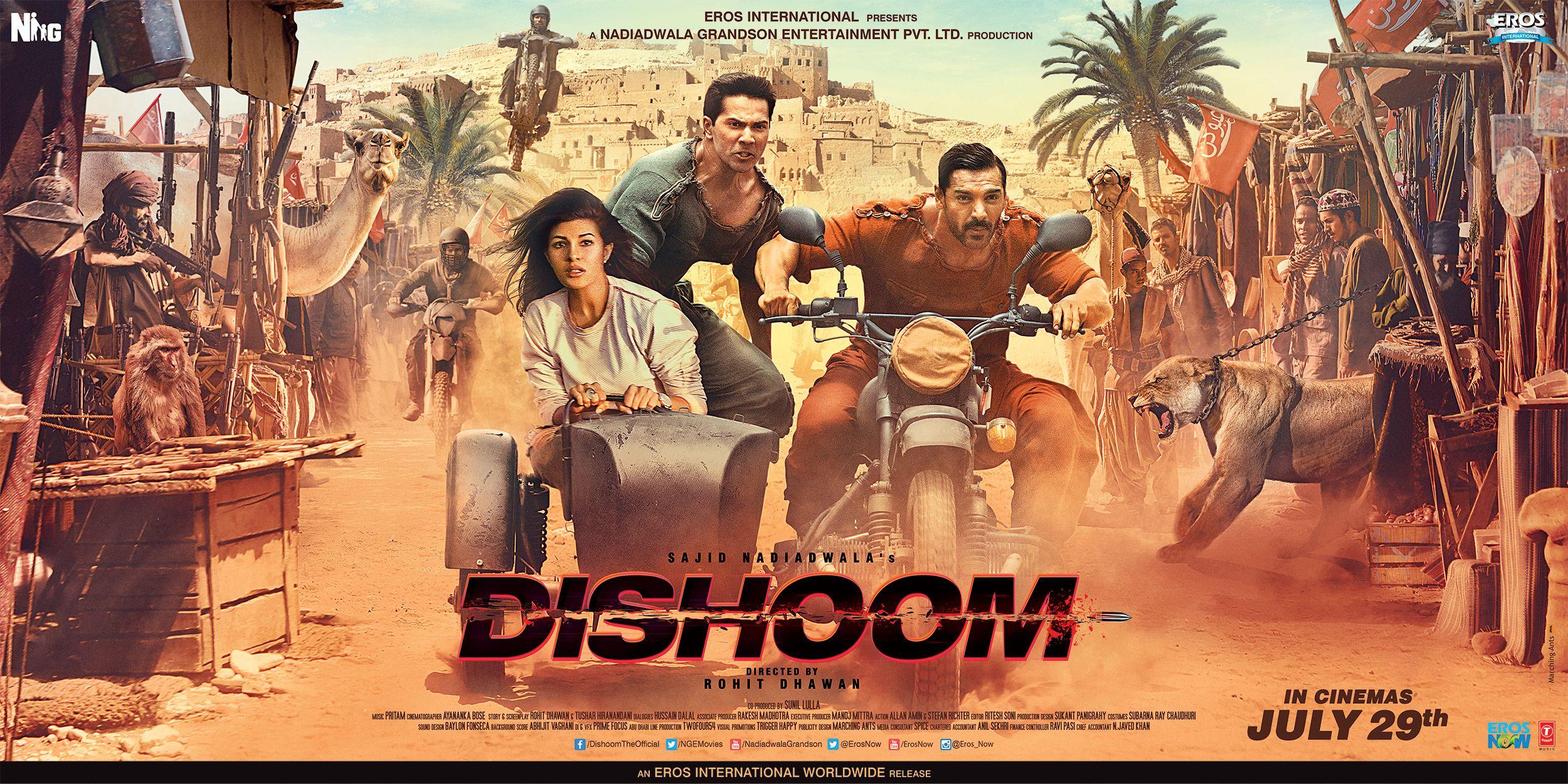 Dishoom Johnabraham Varundhawan Jacequelinefernandez Rohitdhawan Sajidnadiadwala Dishoom Movie Songs Hindi Movies Online