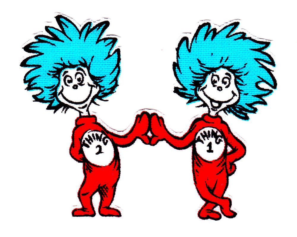 Thing 1 And Thing 2 Black And | Cat in the Hat | Pinterest | Dr ...