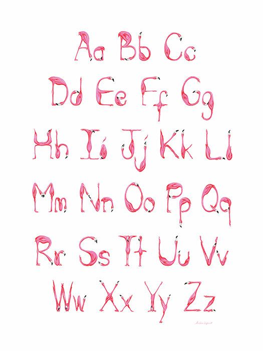 Pre-Order your Alphabet! This new version, all redrawn, will be available October 17, 2016! Its funnier to learn your alphabet with pink flamingos! Lovely art print! Perfect for children room or a class! Size: 18  x 24  ( 45.72cm x 60.96cm ) Offset printing on slightly satin paper, 200M . Frame not include. The poster will be rolled and posted in a cardboard mailing tube.   Thank you for visiting my shop! >>> <<< Follow me on Facebook! https://www.facebook.com&#x2F...
