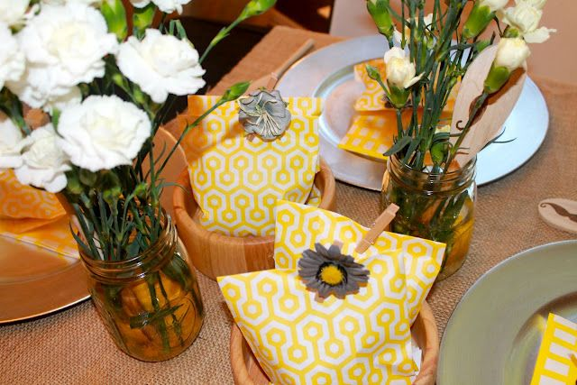 Yellow and Grey party! | DIY Crafts and Activities | Pinterest ...