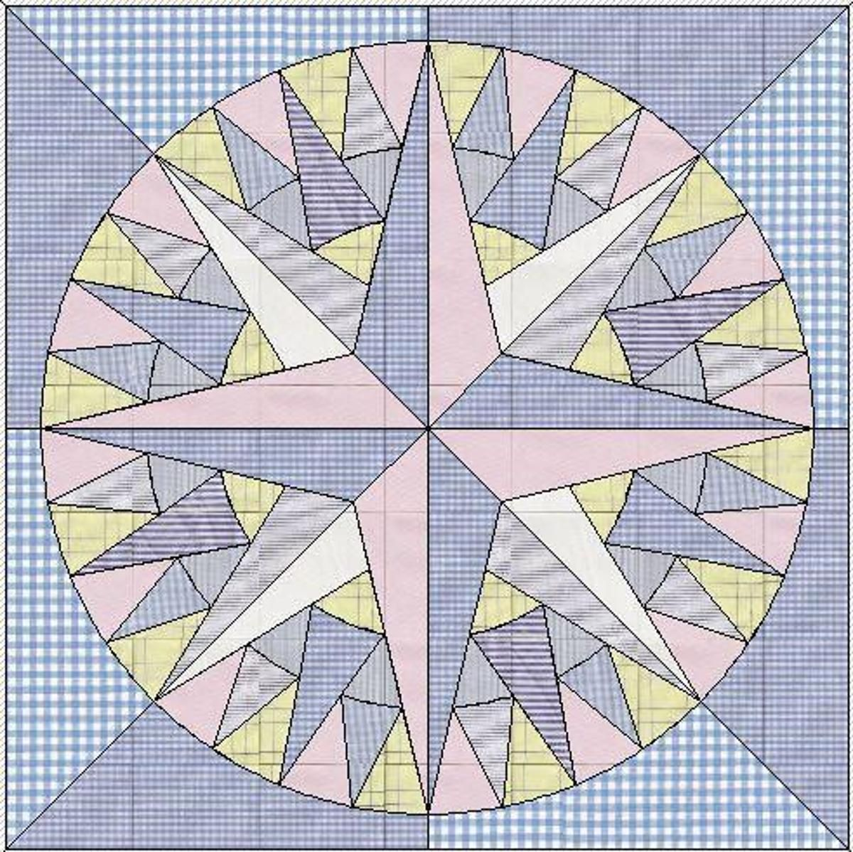 Compass Craftsy Free Pdf Nautical Quilt Mariners