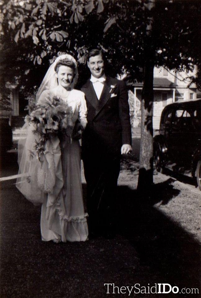 Leonard & Marian - July 22, 1944 {TheySaidIDo.com}