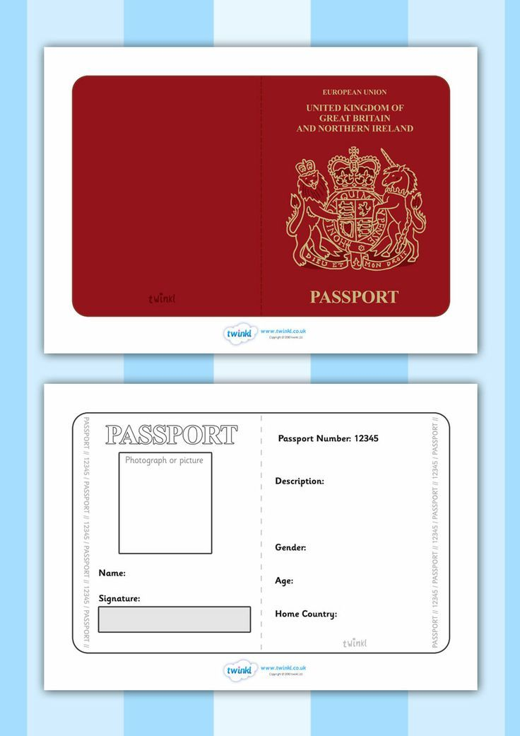 Have students make a passport to take the world tour to for Fun passport template