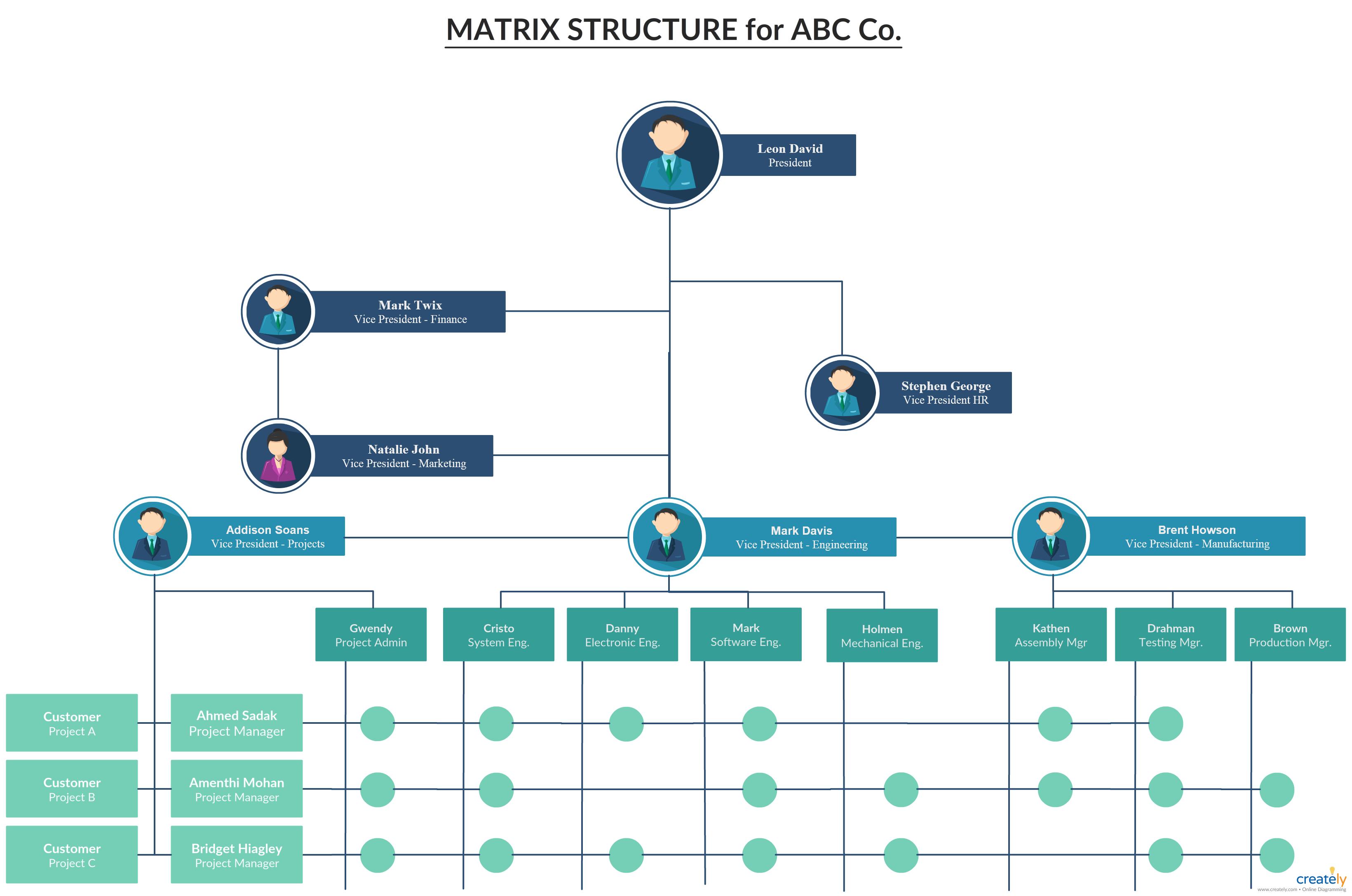 Estructura Matricial Estructura Organizativa Matricial Con