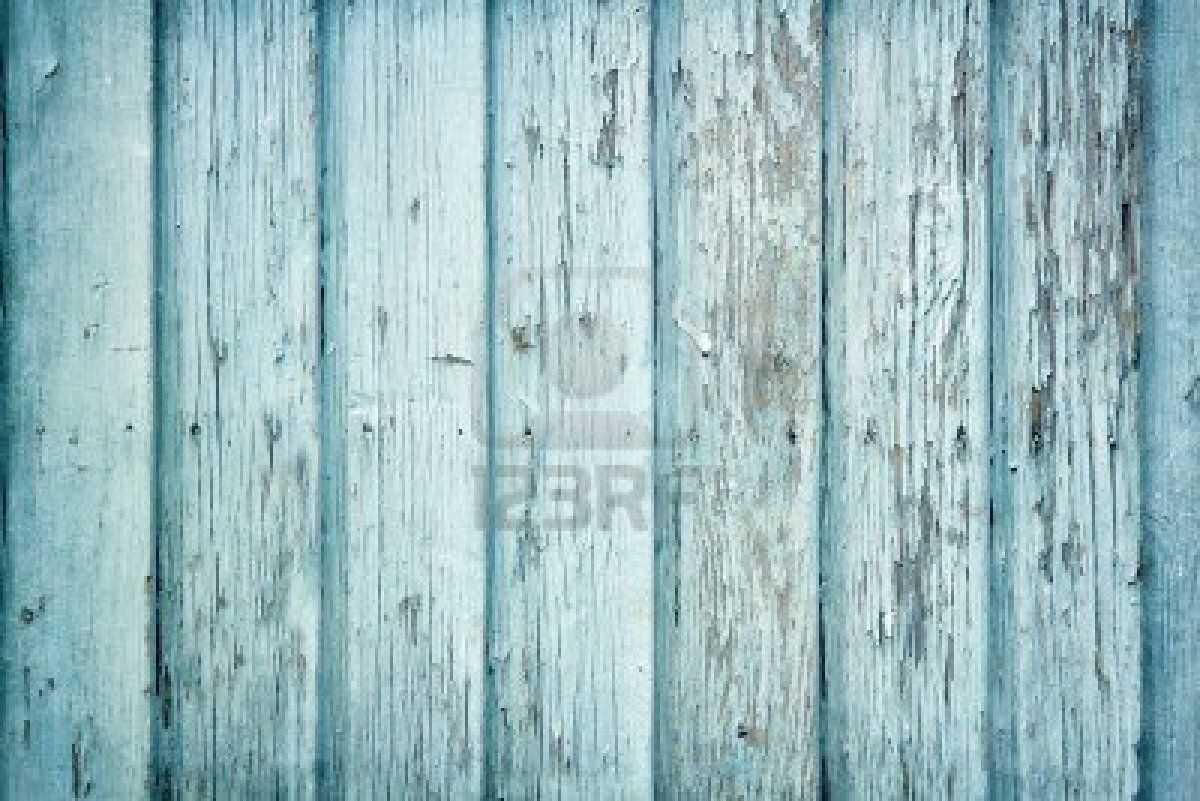 Old Wooden Painted Light Blue Rustic Background Paint Peeling Stock Photo