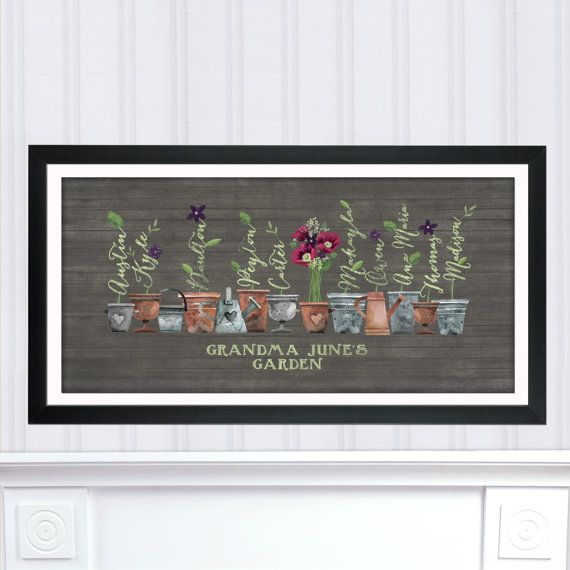 Grandmau0027s Garden Gift, Personalized Gift For Grandma, Christmas Gift For Her,  Gift For