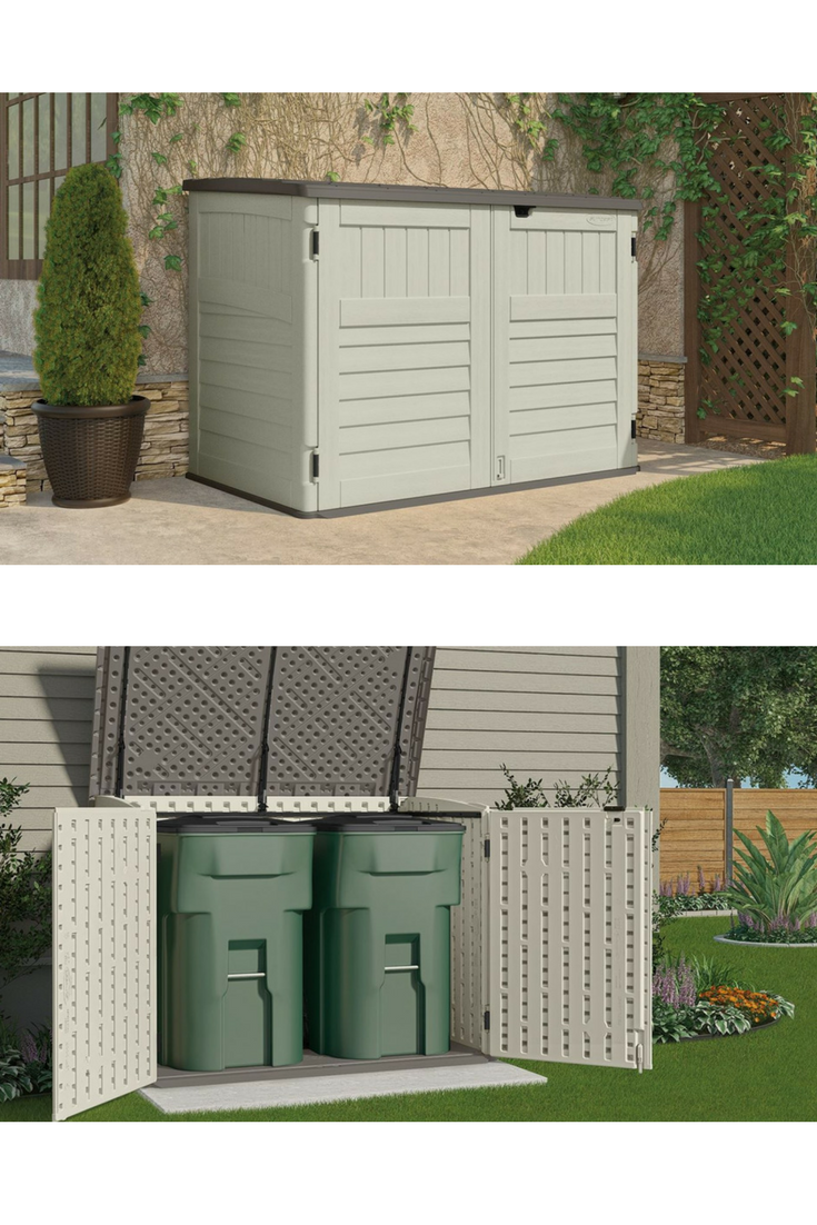 The Stow Away Represents A Horizontal Plastic Storage Shed That Delivers A  Well Favoured Low