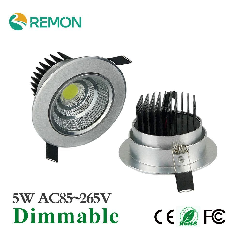 Newest Recessed LED Ceiling Light COB LED Spot Lights 5W Dimmable ...