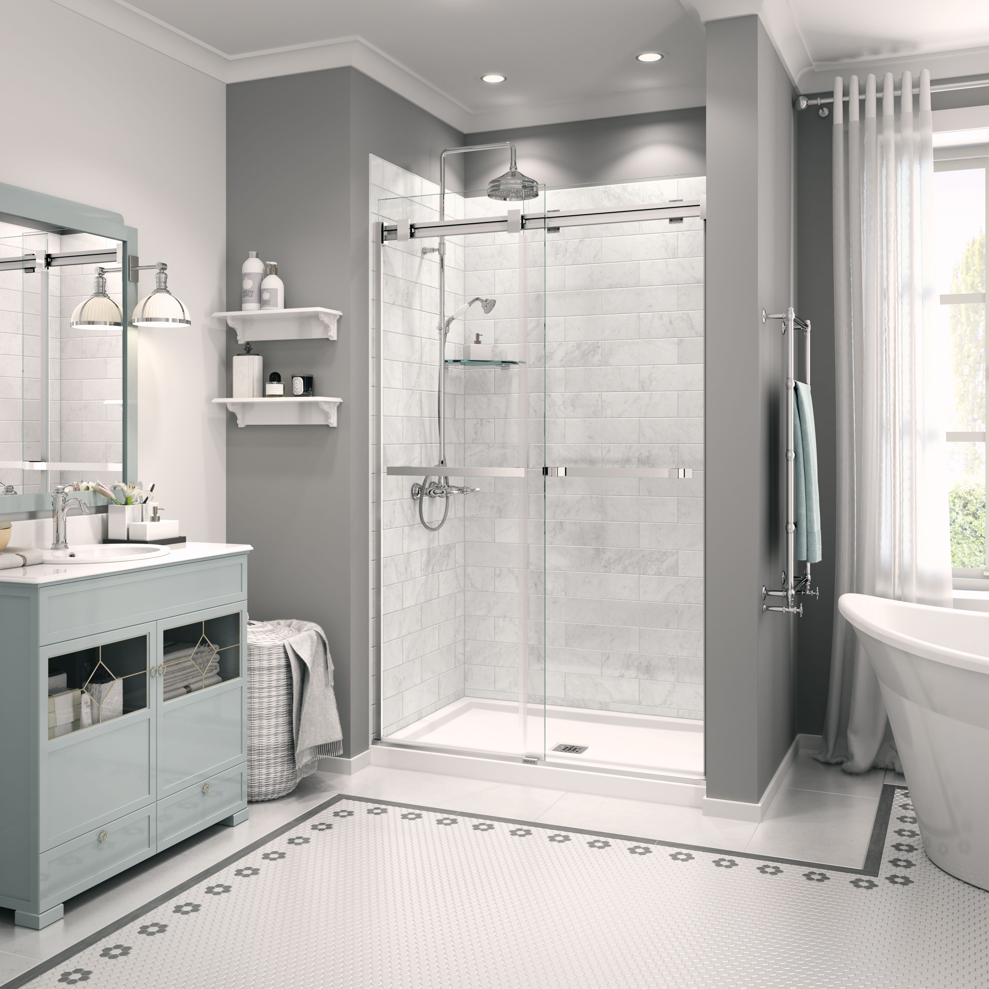 B3Square 4836 | Shower base, Alcove and Squares