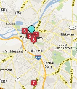 Schenectady New York Map.Pictures Of Schenectady New York Map Of Schenectady Ny Hotels