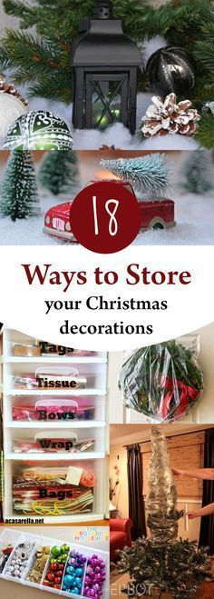 18 Ways to Store Your Christmas Decorations Organized Pinterest