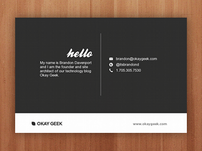 New Business Cards (back) | A business, Design and Card ideas