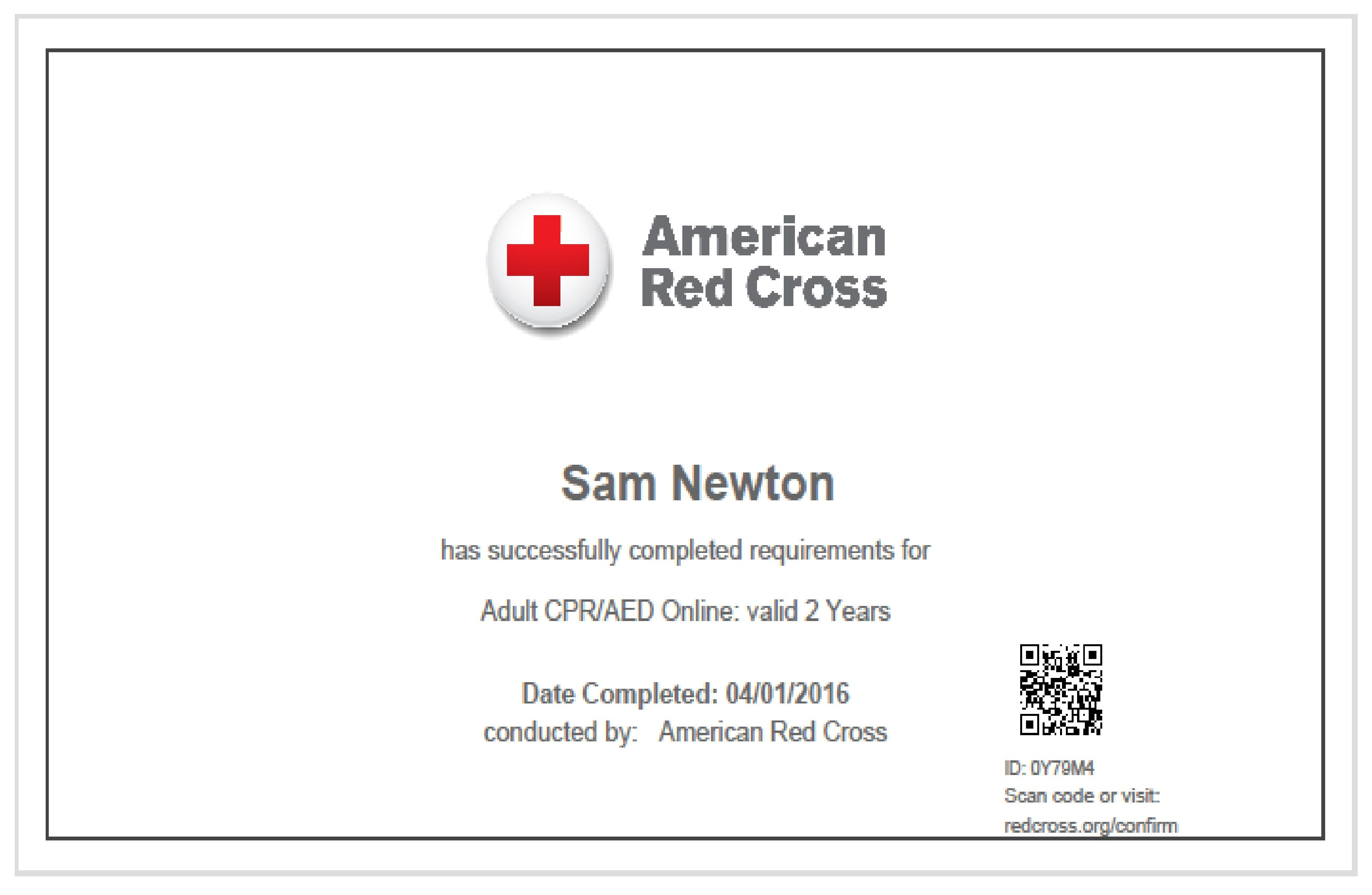 Red cross cpraed certification international sports science red cross cpraed certification xflitez Images