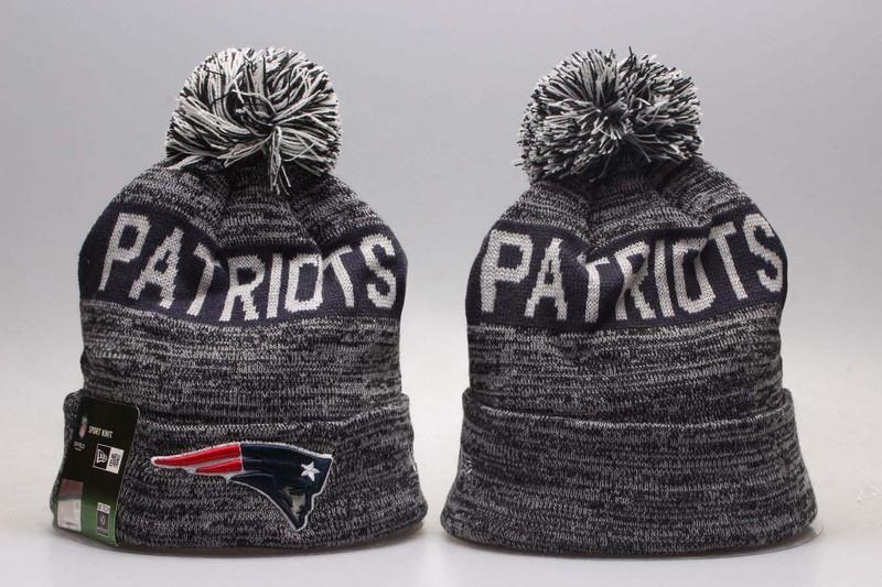 86d9c1143af Men s   Women s New England Patriots New Era NFL Sideline Sports Knit Pom  Pom Beanie Hat - Grey   Navy