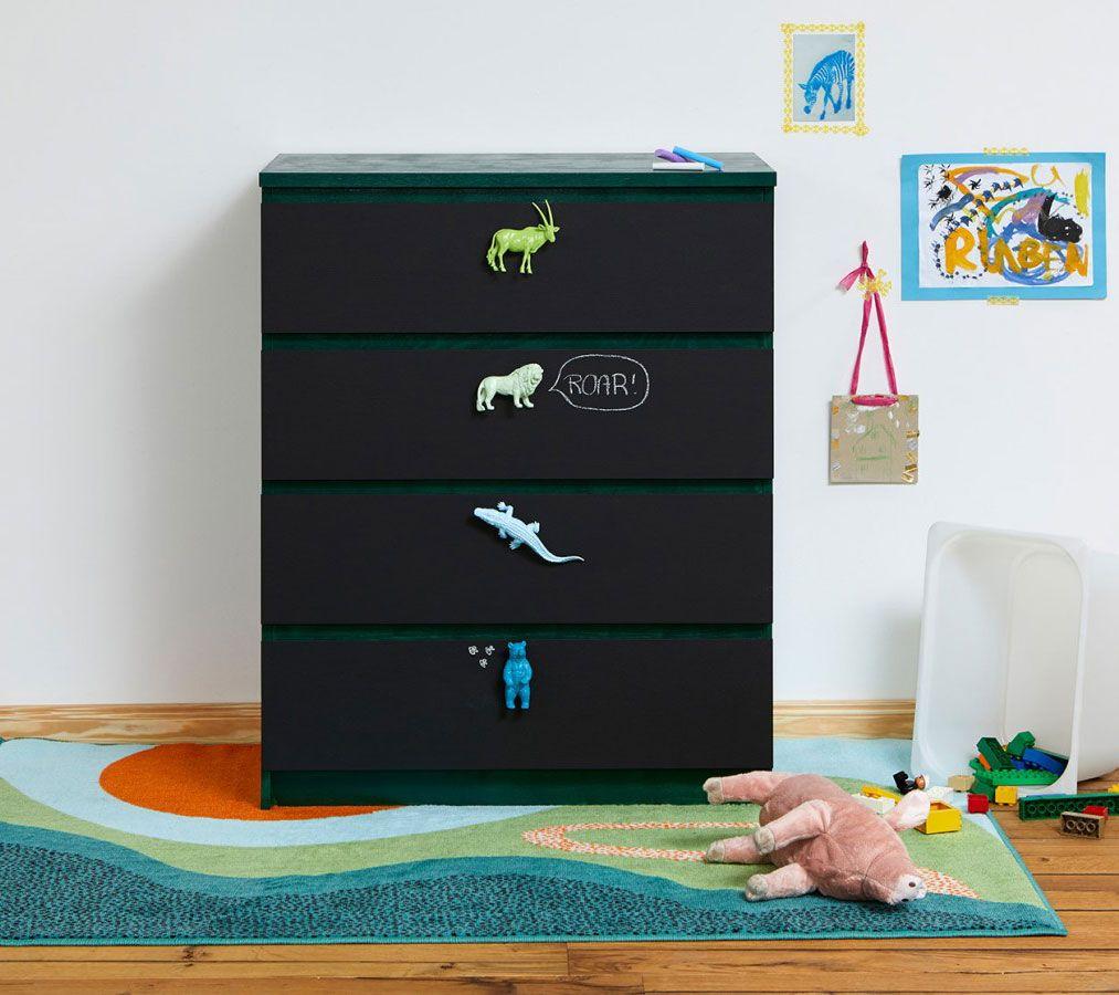 Diy Kinder Kommode Mit Gummitier Griffen Ikea Malm Hack Ikea Malm Kids Room
