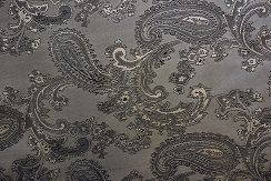 Silver Jacquard Lining, also in Black, Gold, Ivory, Red and White. $8.00 yd