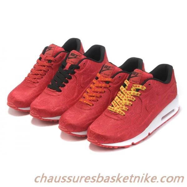 quality design c77a1 88a91 Nike Air Max 90 VT Rouge Noir Blanc Chaussures