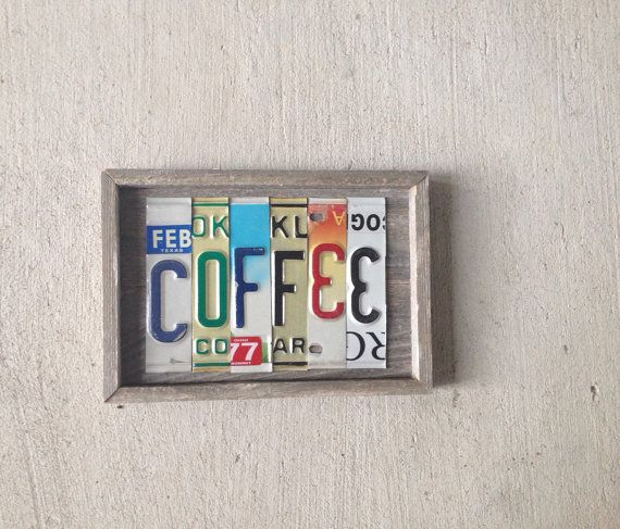 Coffee License Plate Letter Sign Etsy License Plate Sign License Plate License Plate Art