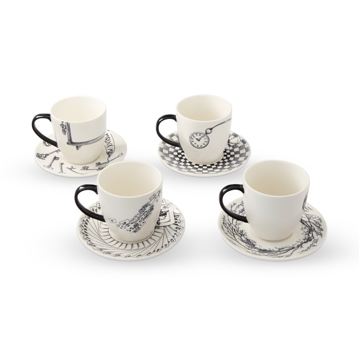 Rory Dobner Tea Cups Saucers Set Of 4 Williams Sonoma In 2021 Tea Cups Cup And Saucer Coffee Cup Images