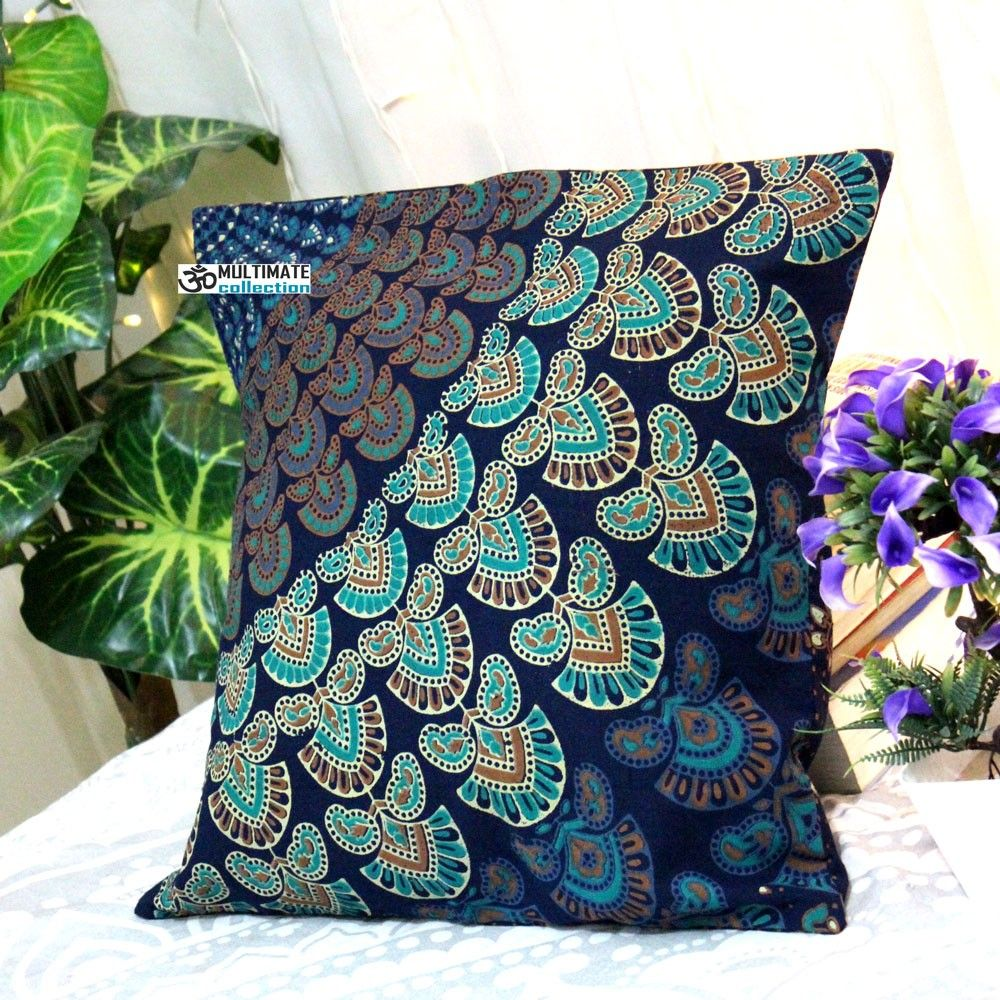 Blue paisley decorative pillow pillows and pillows online