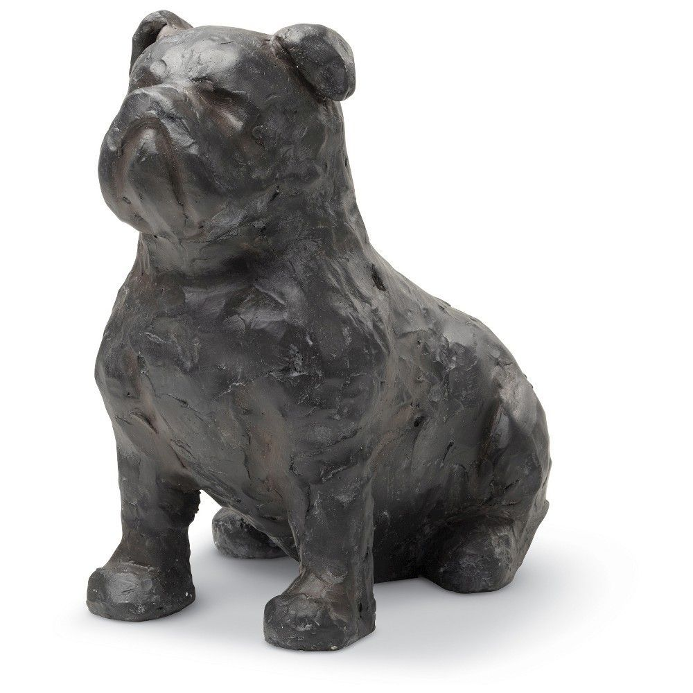 Foreside Home & Garden Farm Dog Sculpture - Small, Dark Grey