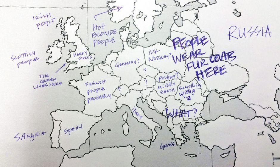 Amerykanie Uzupelniaja Mape Europy Masakra Carte Au Tresor