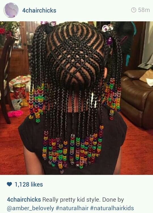 Braids for Kids Nice Hairstyles Pictures | Cornrow, Beads and Patterns