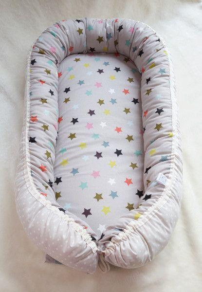 Nestchen - Babynest Sterne Bunt - ein Designerstück von ...
