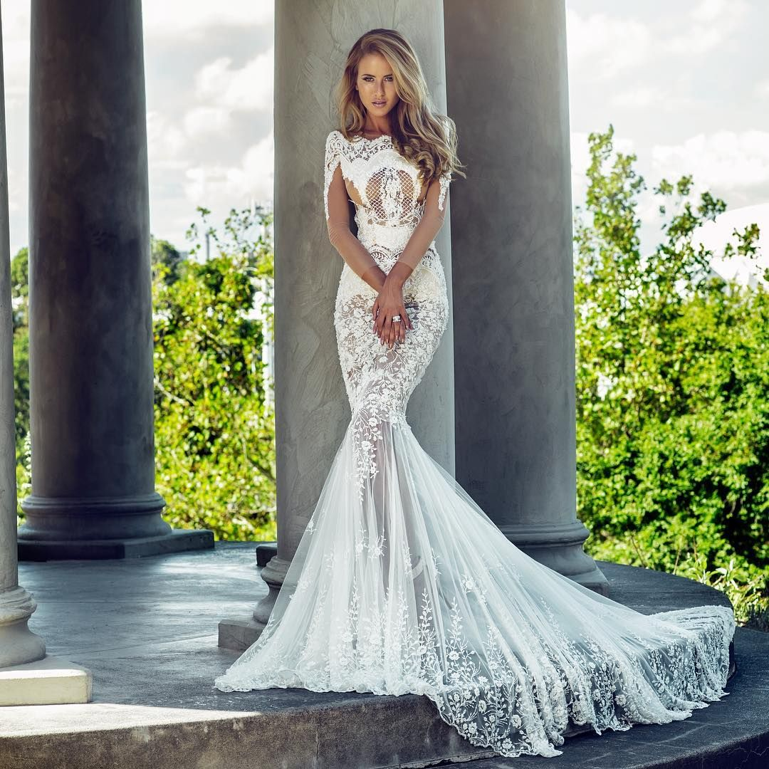 """""""This @worldofnektaria wedding #gown is the perfect pick for a modern bride looking for something truly statement-making."""""""