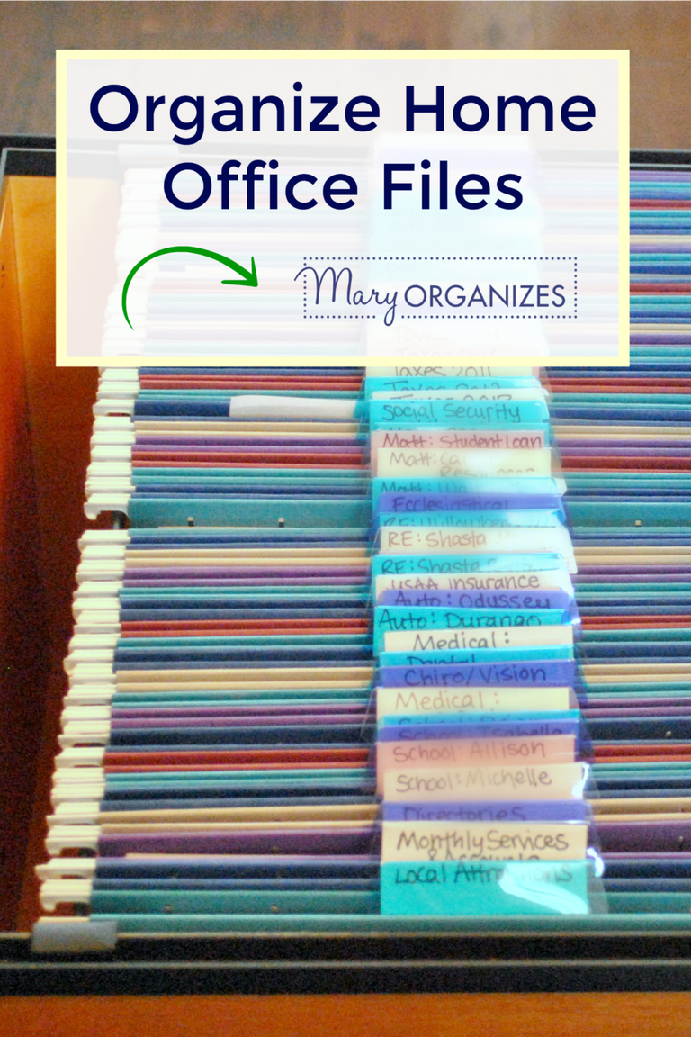 Organize Home Office Files Paper Management Con Imagenes