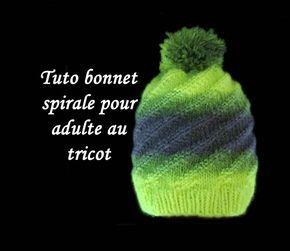 De Fil En Aiguille Tuto Bonnet Spirale Au Tricot Facile