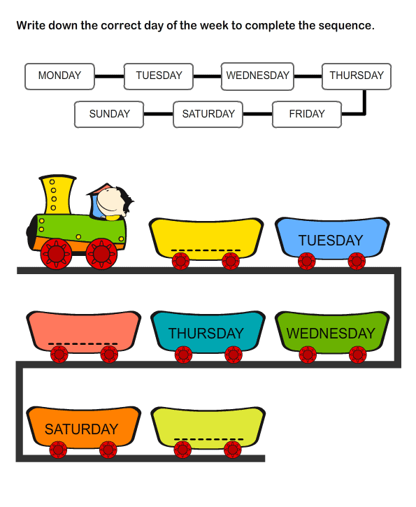 Weekdays Worksheet 7 math Worksheets kindergarten Worksheets – Days of the Week Kindergarten Worksheets